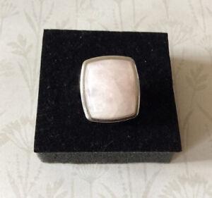 Large Rose Quartz Ring Size M1/2
