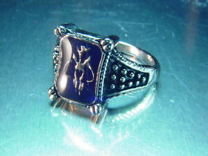 Star Wars Boba Fett Bounty Hunter Bantha Skull Amber Ring