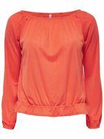 13/13 NEU ONLY Damen Langarm Carmen Shirt TOP onlNOMI L/S TOP JRS  Gr. M  orange