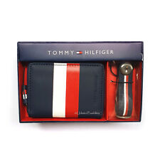 NEW TOMMY HILFIGER Thom Zip Wallet Bottle Opener Gift Set Multi Colour Tag Box