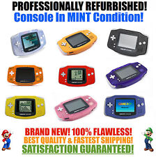 *NEW GLASS SCREEN* Nintendo Game Boy Advance GBA System MINT NEW Pick a Color!