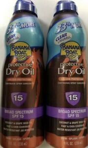 BANANA BOAT PROTECTIVE DRY OIL SUNSCREEN BROAD SPECTRUM SPF15 COCONUT GRAPE SEED