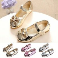 Toddler Baby Girls Bownot Shoes Flat Kids Children Wedding Party Princess Shoes