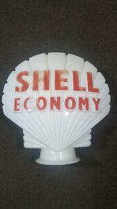 Genuine Petrol pump glass  globe Shell Economy