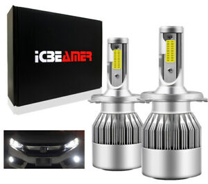 9003/HB2 72W H4 LED COB Direct Plugin Canbus Super White 6000K Lights Bulbs L15