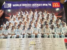 Extremely Rare World Series Cricket 1978/79 McDonalds poster