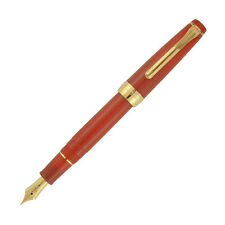 Sailor Pro Gear Slim Fountain Pen in Fire Red Orange - 14kt Gold Broad Point