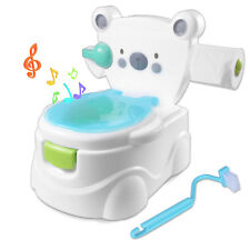 2 in 1 Baby Toilet Trainer Child Toddler Kid Music Seat Fun Potty Training Chair