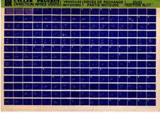 Microfiche CYCLES PEUGEOT 101 102 103 partie MOTEUR mobylette