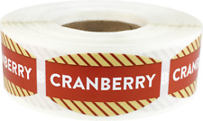 Cranberry Grocery Market Stickers, 0.75 x 1.375 Inches, 500 Labels Total