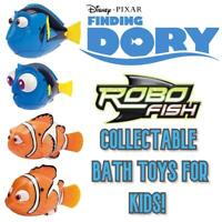 Robo Fish Finding Dory Bath Toy Figures - Collect All 4!