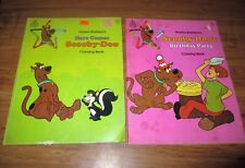 Vtg 1970's Hanna Barbera Scooby Doo Where Are You Coloring Books Rand Mcnally Co