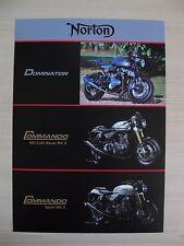 Norton Dominator, Commando 961 Café Racer MkII & Sport UK Sales Brochure 2016/17