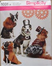 DOG CLOTHES/COSTUME Simplicity Sewing  Pattern 1031 NEW Sizes S-M-L