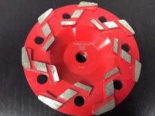 "5"" Aggressive #20/25 Grit S Seg Pro Diamond Grinding Cup Wheel-  5/8""-11 Arbor"