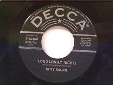 """KITTY KALLEN """"LONG LONELY NIGHTS / LASTING LOVE"""" 45 NEAR MINT"""