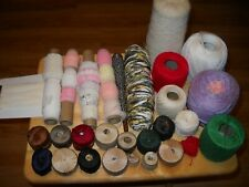 Variety Lot Of Crochet Thread, Lace, And Other Types Of Thread
