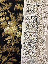 "Victorianna Design Cream Cotton Lace Curtain c1900s period 58""/100"""