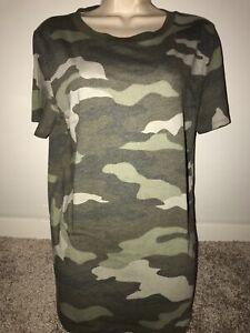 green camoflauge themed shirt Victorias secret PINK size large!