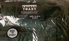 French Toast Size 18 HUSKY Uniform Shorts, H9001-HJ-H, Dark Green, Brand NEW