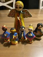 Mexican See-Mel Set Of Figurines Tallest Measuring 7 Inches Tall