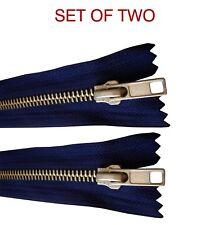 Pale Blue Closed End Metal 15cm Zips Quantity 50 For £6.00