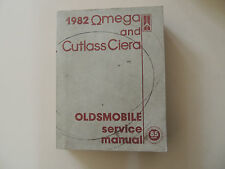 Oldsmobile Omega - Cutlass Ciera 1982 shop service manual Werkstatthandbuch