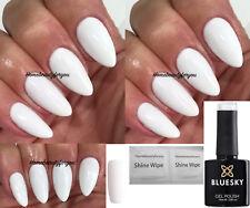 BLUESKY WHITE CS61 BEST WHITE COVERAGE NAIL GEL POLISH UV LED SOAK OFF + WIPES
