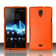 Hard Rubberized Case for Sony Xperia TL LT30AT - Orange