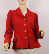Ralph Lauren Polo Jacket Coat Hacking Blazer Red 4 New Wool Hound Buttons