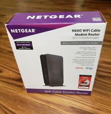 Netgear N600 C3700-100NAS WiFi Cable Modem Router Dual Band 8 x 4 DOCSIS 3.0