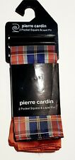 New Pierre Cardin Pocket Squares set of 2, NO Lapel pin. BRAND NEW IN PACKAGING