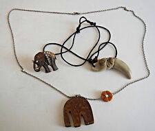 lot of 3 items Elephant Pendant Necklace and Ring