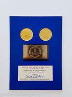 U.S. Bicentennial Gold Set-2 1976 Gold Plated Kennedy Halves w/23k Gold Stamp