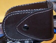 Leather Cartridge Utility Tactical Belt Ammo Pouch Gun Bullet Shell Rifle Brown
