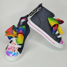 Nickelodeon Canvas Ribbon Blue High-Top Sneakers size 10 Toddler Baby Girl