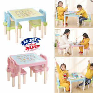 Table and 2 Chairs Set Activity Alphabet ABC Toddler Learn Playing Kids ACB#