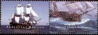 Australien 1995 Motiv Schiffe Segelschiffe Cooks Zusammendruck Mi 1458 1459 **