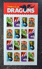 2018USA #5307-5310 Forever - Dragons - Sheet of 16  Mint