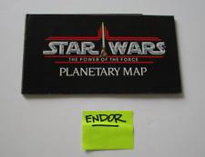 Endor Planetary Map 1985 POTF Booklet STAR WARS Vintage Insert Paperwork #1