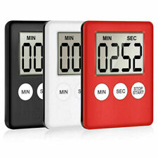 Large Kitchen Cooking LCD Digital Timer Count-Down Up Clock Alarm Magnetic