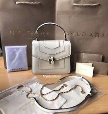 1000% Authentic SERPENTI FOREVER TOP HANDLE BAG in white pristine condition