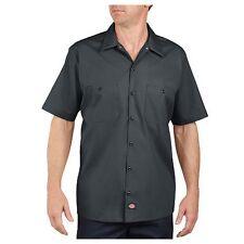 Dickies LS535CH XL Men's Charcoal Poly/Cotton SS Industrial Work Shirt - XL