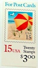 US Livret Sc BK170 20/15 ¢ Postale Plage Timbres~1990~ USPS Scellé ~ MNH / Og