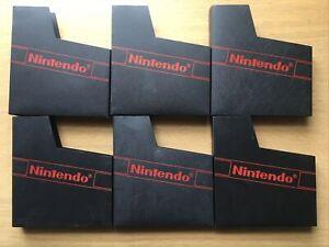 6 X Nintendo NES Original Official Plastic Cases Dust Cover Sleeve Replacement