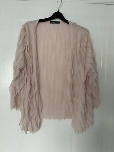 Primark Pink Ruffle Chiffon Cardigan Size 16