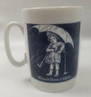 Morton Salt Girl 1914 Logo Coffee Mug When It Rains It Pours Tea Cup Vintage