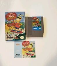 Simpsons: Bart vs.The Space Mutants Nes Nintendo VIDEO GAME COMPLETE IN BOX NICE