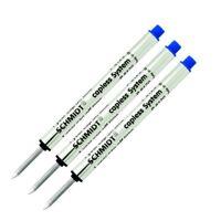 3 Schmidt Pen Refills, Fits Retro 51 #REF5P-B Tornado Rollerball, BLUE INK BOLD