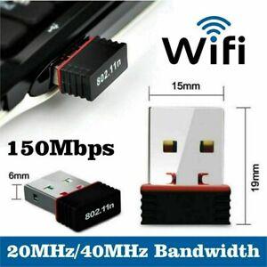 150 Mbps Wireless Wi-Fi USB Adapter Dongle Mini Adaptor 802.11 B G N Lan Network